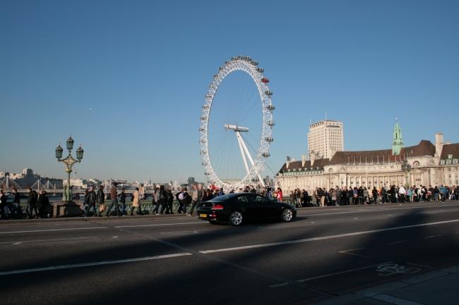 London Eye, as seen from Westminster Bridge
