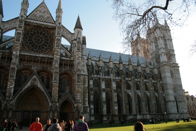 Westminster Abbey, as seen from the lawn in front of St. Margaret's Church