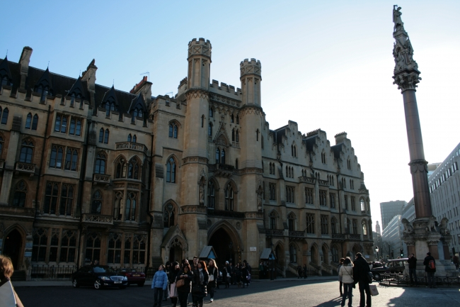 Westminster Abbey Choir School entrance, with the portal that leads to Dean's Yard