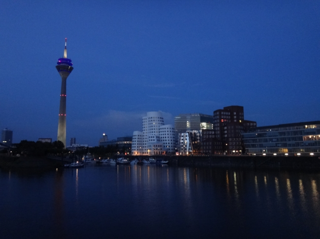 Night Skyline, Medienhafen