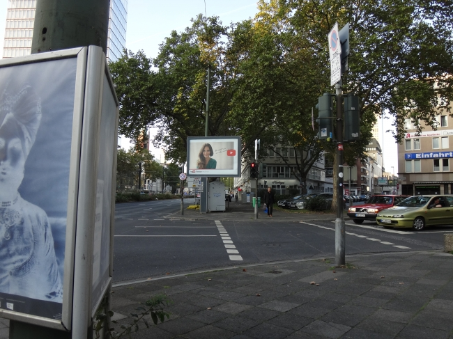 YouTube advert on Berliner Allee,