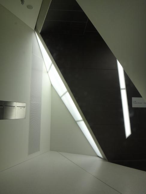 Modern architecture, entrance,