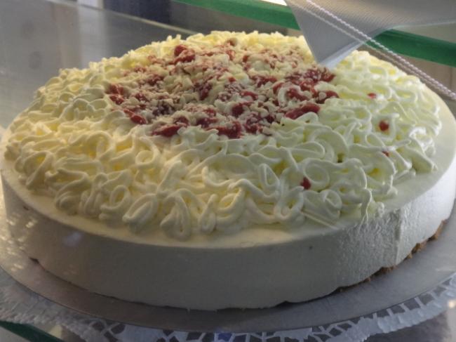 Spaghetti Ice Cake, at a restaurant, on display