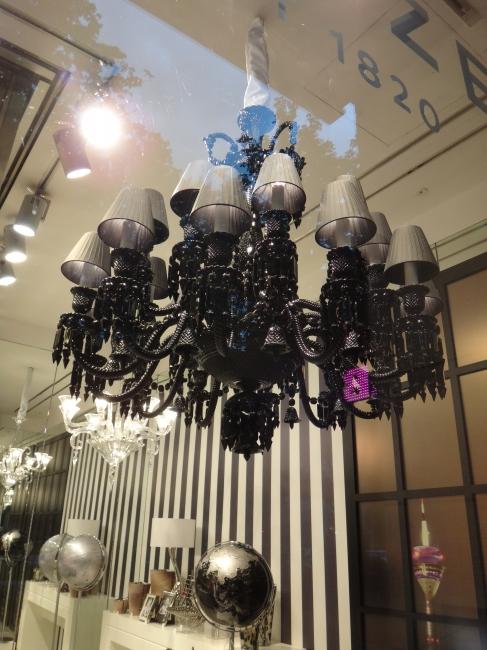Black chandelier,