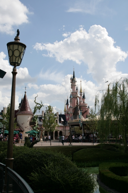 The Castle, seen from Fantasyland,