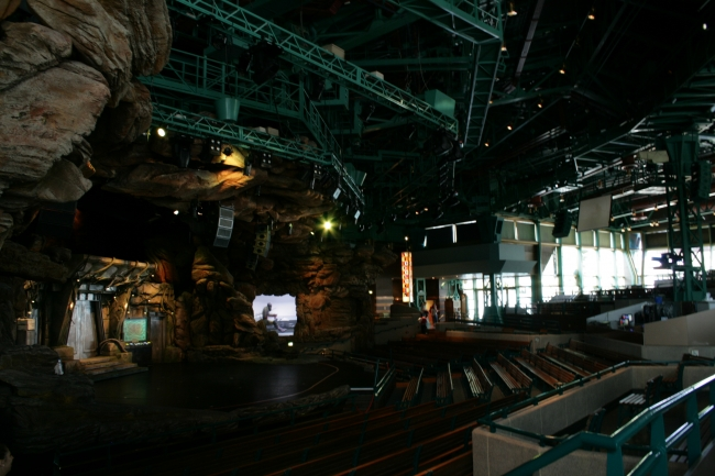 Auditorium of Star Wars Academy, formerly called Videopolis,