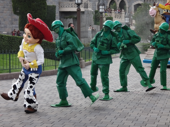 Some Toy Story characters during the Parade,