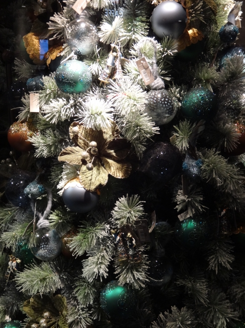 Christmas tree decoration close-up,