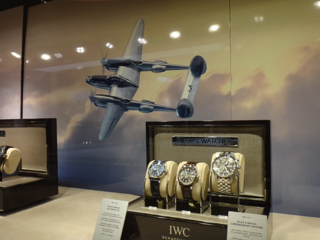IWC watches ad with interesting plane,