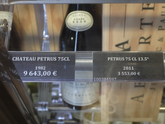 Chateau Petrus from 1982 and 2011, at NCE Nice-Côte d'Azur airport